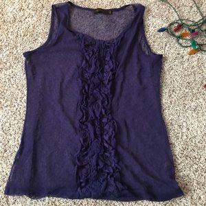 The Limited purple lace tank top